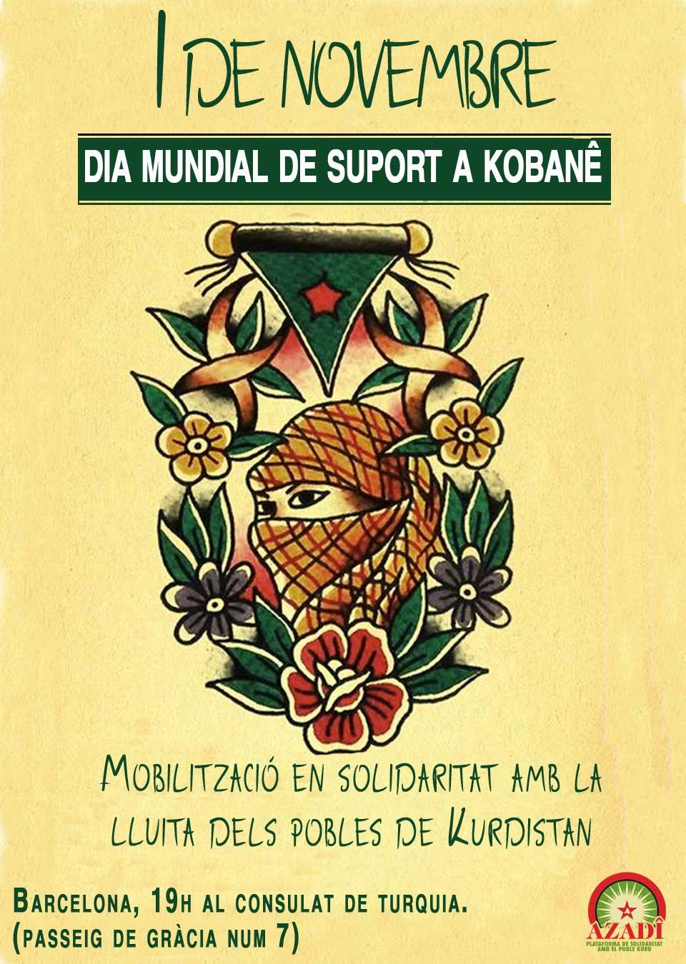 1 de Novembre: Dia mundial de suport a Kobane